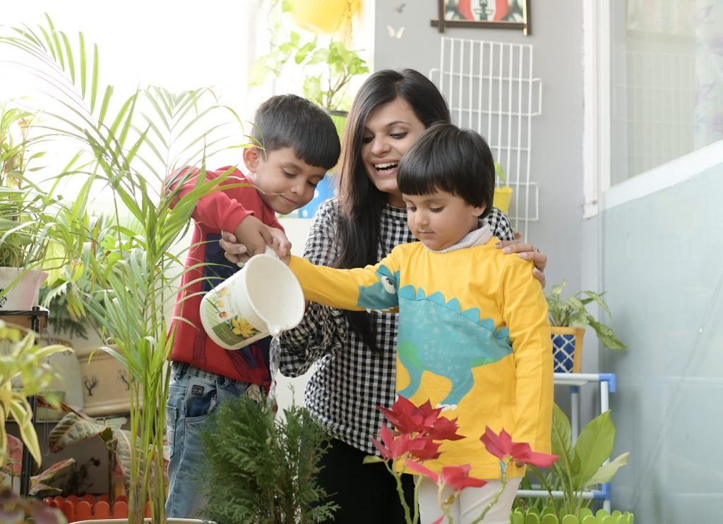 Watering plants is an age appropriate chores